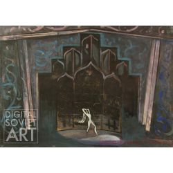 "Set Decoration for the Ballet ""Leili and Medzhnun"" – Декорация к балету ""Лейли и Меджнун"""