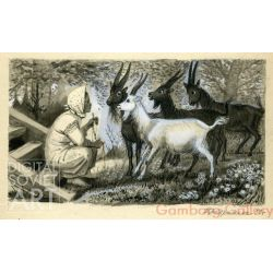 "Illustration from ""The Bull-Calf"", Russian Folk Tale – Бычок - черный бочок"