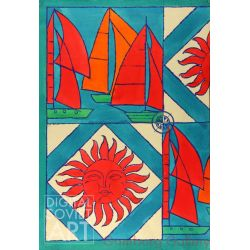 The 1980 Tallinn Sailing Olympics. Design Sketch for Scarf  – Без названия