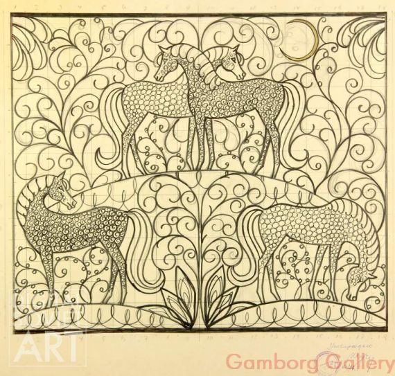 Design Sketch - for Decorative Ornament on Wrought Iron Gates – Орнамент - эскиз