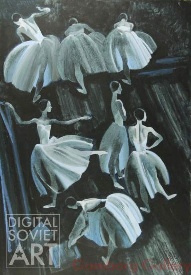 Ballerinas In the Wing. The Corps de Ballet for the ballet Giselle – Балерины в кулисах
