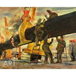 "The Red Junction. Sketch for ""Gazprom"" Composition – Газпром Уренгой - эскиз"