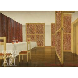 Sketch for Interior of VIP Room at Plant. Krasnoyarsk – Красноярск