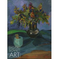 Blue Still-Life with Bouquet – Без названия