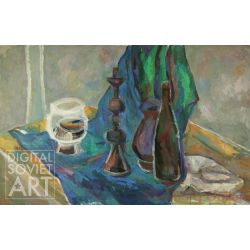 Still-Life with Cloth and Bottles – Без названия