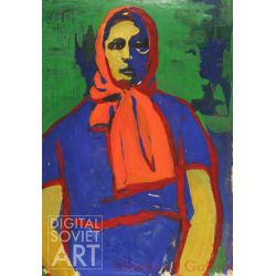 Woman in Orange Scarf – Без названия