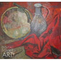 Still Life with Pitcher and Red Cloth – Натюрморт с кувшином и красным одеялом