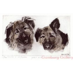 Two German Shepherds – Белка и Стрелка