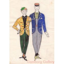 Costume Sketches for Circus – Без названия
