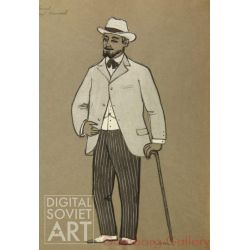 "Basov. Artist Nikolai Annenkov. Costume Design for ""Summer Life"" by Gorky – Басов. Артист Николай Анненков"