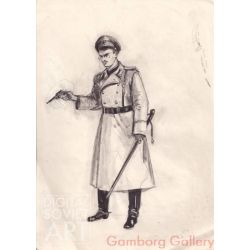 German Soldier. Sketch for Theater Costume – Без названия