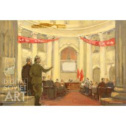 "Revolutionary Meeting. Set Design for the Film ""The Kremlin Chiming Clocks"" – Без названия"