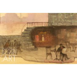 "Tavern. Sketch for the Theater Play ""Odd Fellow"" by Nâzım Hikmet – Кабак. К пьесе Назима Хикма ""Чудак"" (1956, Т-р им. Ермоловой)"