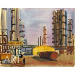Industrial Scene in the Urals. Oil Refinery – По Уралу