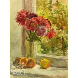 Flowers by the Window, with Apples and Pear – Без названия