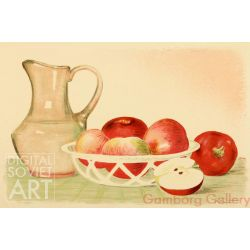 Still-life with Pitcher and Apples – Без названия