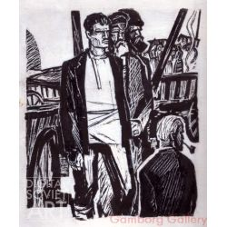 "Illustration from ""People of the Marsh"", Ivan Melezh, 1961 – Люди на болоте, Иван Мележ, 1961"