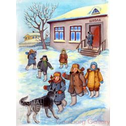 School in Winter – Школа зимой