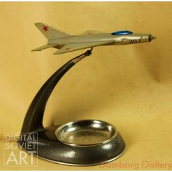 MIG-21 Jet Fighter. Model with Ashtray – Самолет-пепельница