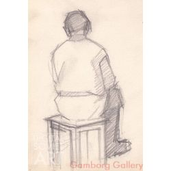 Study of Man on Chair – Этюд
