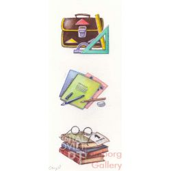 Illustration - School Items – Без названия