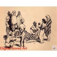 "Illustration from ""The Mowgli Stories"", Rudyard Kipling, 1894 – Иллюстрация для ""Маугли"", Киплинг"