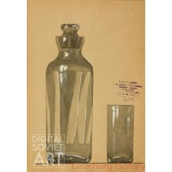 Design Sketch for Pitcher and Glass – Эскиз кувшина